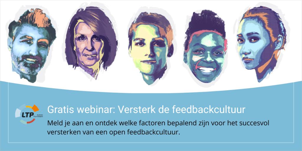 Banner gratis webinar: Versterk de feedbackcultuur